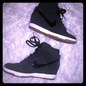Black Nike Wedges Size 7.5 Worn Once💕